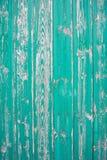Зеленая реальная деревянная предпосылка текстуры Винтажный и старый Стоковая Фотография