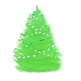 Зеленая рождественская елка Стоковое фото RF