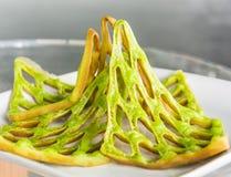 Зеленая сеть waffle Стоковая Фотография RF