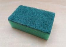 Зеленая синтетическая губка Стоковые Изображения RF