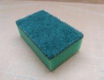 Зеленая синтетическая губка Стоковые Изображения