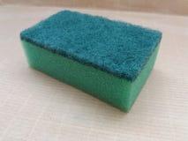 Зеленая синтетическая губка Стоковое Изображение