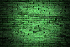 Зеленая стена кирпичей Стоковые Изображения