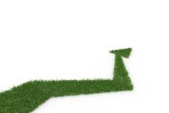 Зеленая стрелка на белой предпосылке Стоковое фото RF
