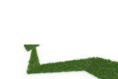 Зеленая стрелка на белой предпосылке Стоковые Фото