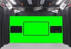 Зеленая студия фото Стоковое Изображение RF