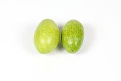 Зеленая сырцовая молодая оливка Стоковое Фото