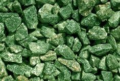 Зеленая текстура кучи гравия Стоковые Фото