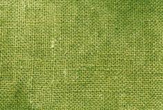 Зеленая текстура мешка ткани Стоковое Изображение