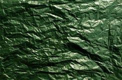 Зеленая текстура полиэтиленового пакета Стоковые Фото