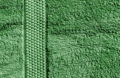 Зеленая текстура полотенца ванны Стоковые Фото