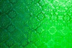 Зеленая текстура предпосылки стиля стекла окна зеркала тайская Стоковые Фото