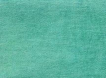 Зеленая текстура ткани джинсовой ткани Стоковые Изображения RF