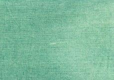 Зеленая текстура ткани джинсов Стоковая Фотография RF