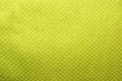 Зеленая текстура ткани Стоковое Изображение
