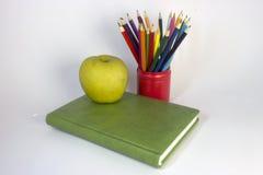 Зеленая тетрадь стоковое изображение