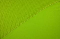 Зеленая ткань одежды спорта Стоковая Фотография
