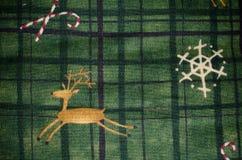 зеленая ткань с украшениями рождества Стоковое фото RF