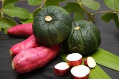 Зеленая тыква и сладкий картофель Стоковое Фото