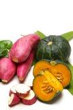 Зеленая тыква и сладкий картофель Стоковые Изображения RF