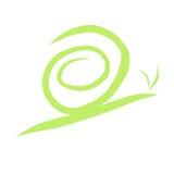 зеленая улитка иллюстрация штока