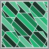 Зеленая форма нашивки тона и белая линия предпосылка Стоковые Фото
