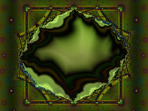Зеленая фракталь geode Стоковая Фотография RF