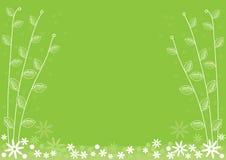 Зеленая флористическая предпосылка Бесплатная Иллюстрация