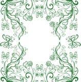 Зеленая рамка Стоковое Изображение