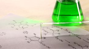 Зеленая химия стоковое фото