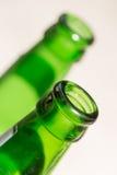 Зеленая шея стеклянной бутылки конец Стоковое Изображение RF