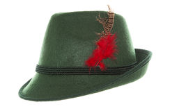 Зеленая шляпа баварца Oktoberfest Стоковое фото RF