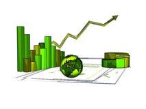Зеленая экономия Стоковое Изображение RF