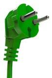 Зеленая электрическая штепсельная вилка Стоковое Фото