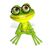 Зеленая лягушка иллюстрация штока