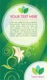 Зеленая envirronmental брошюра vektor Стоковая Фотография