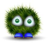 Зеленая shaggy тварь Стоковое Изображение