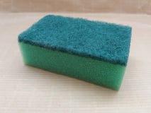 Зеленая syntethic губка Стоковое Изображение