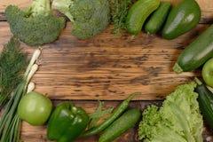 Зеленая vegetable рамка Стоковые Изображения