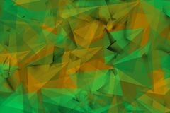 Зеленоватые формы в тумане иллюстрация штока