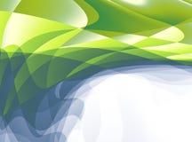 Зеленое белое серое современное абстрактное искусство фрактали Яркая иллюстрация предпосылки с хаотической картиной Творческий гр Стоковое Изображение RF