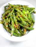 Зеленое блюдо китайца стручковых фасолей Стоковые Фото