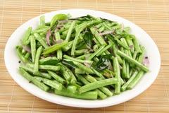 Зеленое блюдо стручковых фасолей Стоковое фото RF