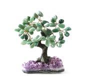 Зеленое дерево денег Aventurine Стоковая Фотография