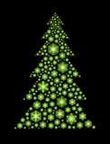 Зеленое дерево снежинок Стоковые Фото