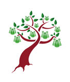 Зеленое дерево людей Стоковое фото RF