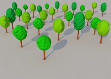 Зеленое лесное дерево 3d Стоковое Изображение