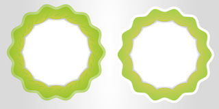зеленое знамя лист eco для вашего шаблона дела вектора текста бесплатная иллюстрация