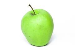 Зеленое изолированное яблоко, Стоковая Фотография