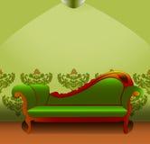 Зеленое кресло Стоковое Изображение RF